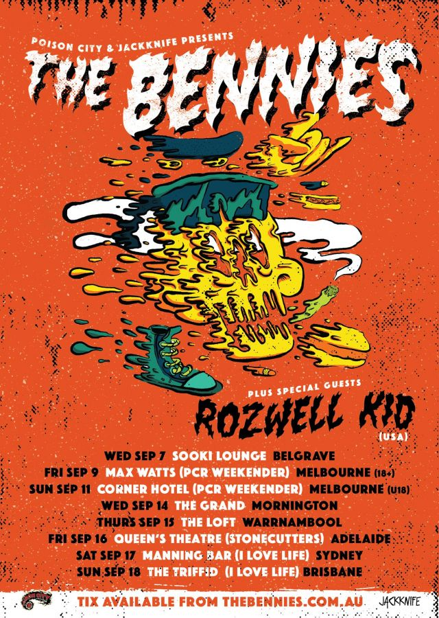 the bennies extra east coast shows tour poster 2016 source facebook