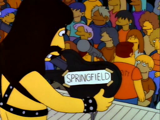 the simpsons spinal tap guitar