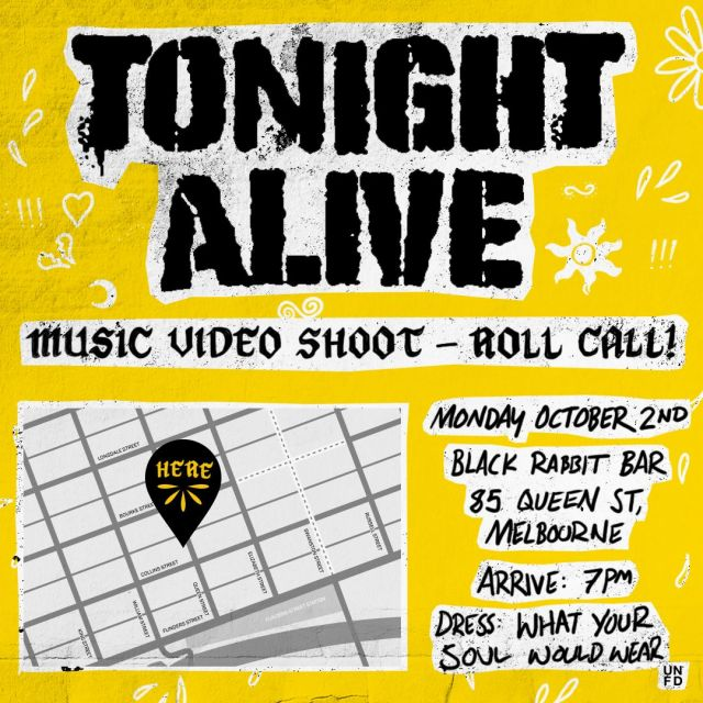 tonight alive video shoot poster