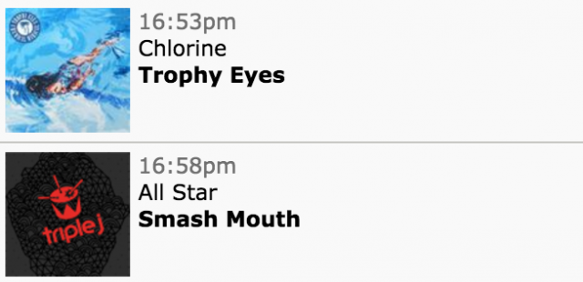 triple j smash mouth all star playlist screenshot