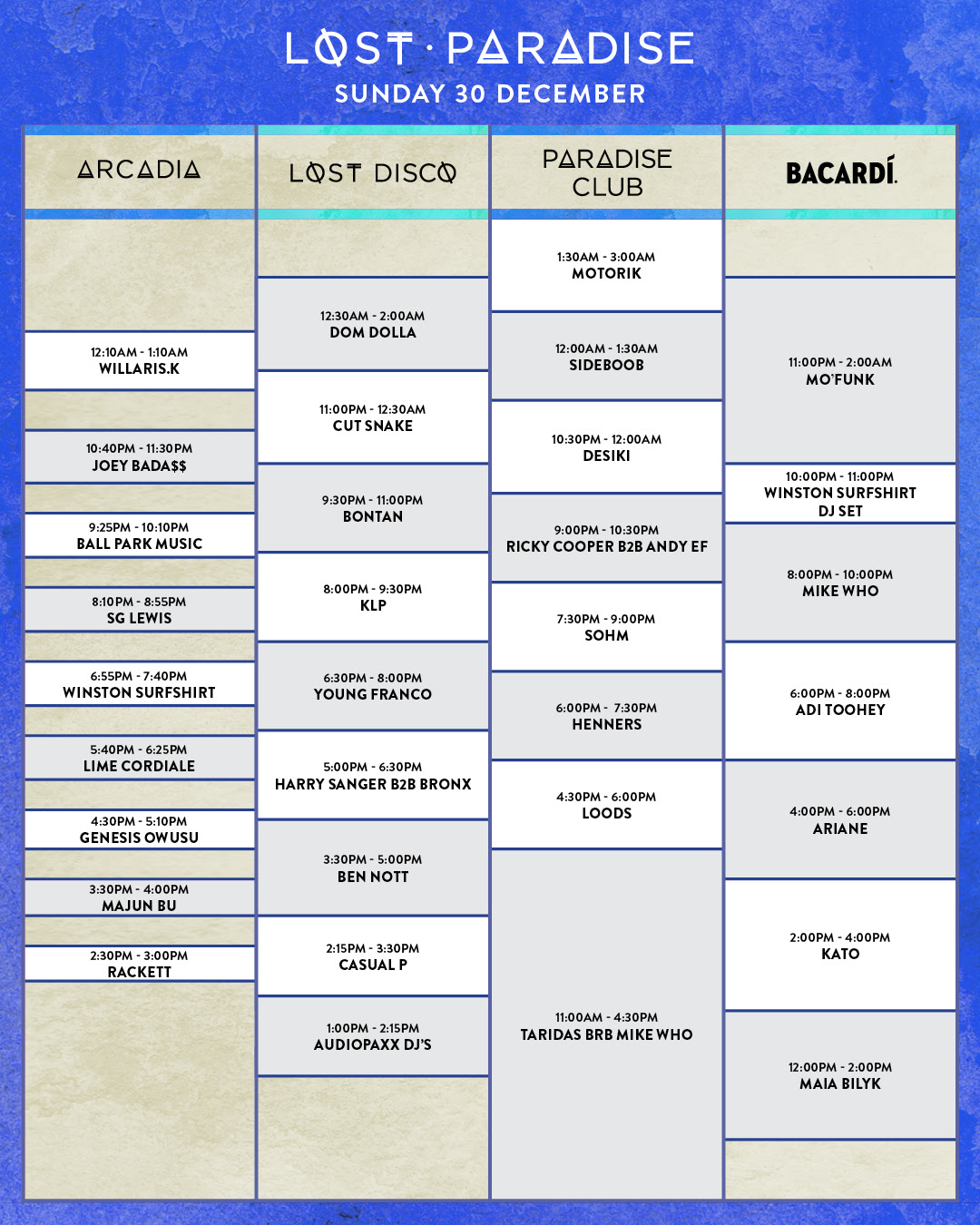 The Lost Paradise 2018 Set Times Are Here   Utter Buzz! 061899c4cf9b