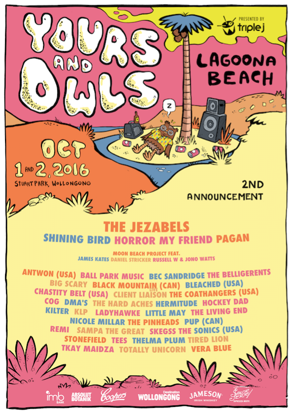 yours and owls 2016 lineup poster second announce supplied